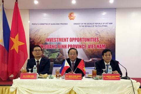 Tổ chức hội nghị xúc tiến đầu tư vào Quảng Bình tại Philippines
