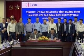 Ký kết biên bản làm việc giữa tỉnh Quảng Bình và Tập đoàn Điện lực Việt Nam (EVN)